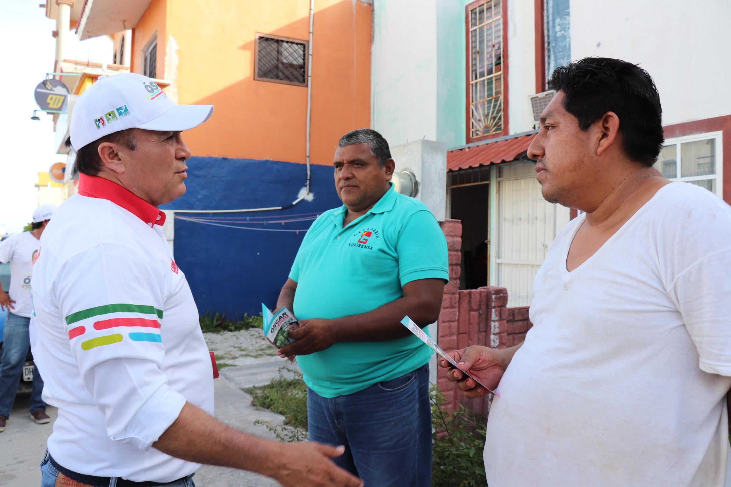 Junto a los ciudadanos lograremos generar un Carmen con más oportunidades: Óscar Rosas.