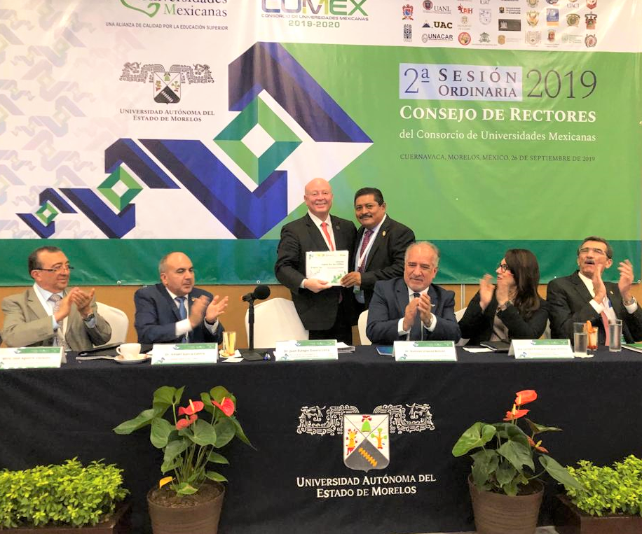 Dr. José Antonio Ruz Hernández, primer rector en presentar informe y plan de trabajo, como coordinador de la región sur del CUMex