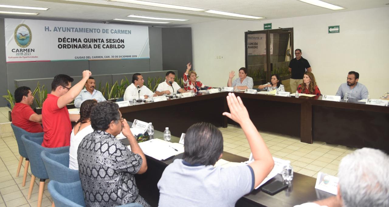 Aprueban Ley de Ingresos del Municipio de Carmen para el Ejercicio Fiscal 2020 e informes financieros y contables del mes de noviembre